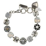 Mariana Jewelry Silk Bracelet, Silver Plated with Swarovski Crystal, Nature Collection MAR-B-4174 1049 SP