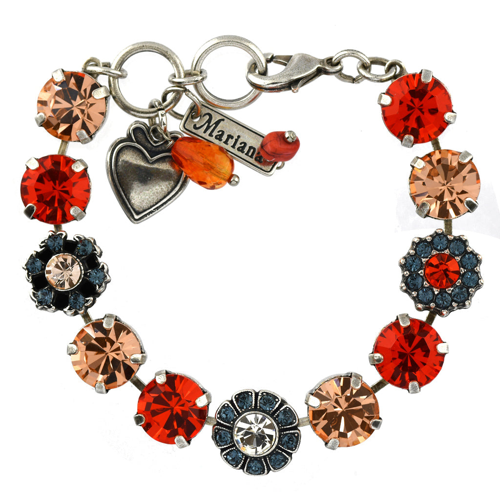 Mariana Jewelry Gelato Bracelet, Silver Plated with Swarovski Crystal, Nature Collection MAR-B-4174 117 SP