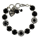 Mariana Jewelry Checkmate Bracelet, Silver Plated with Swarovski Crystal, Nature Collection MAR-B-4174 280-1 SP