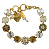 Mariana Jewelry Champagne and Caviar Bracelet, Gold Plated with Swarovski Crystal, Nature Collection MAR-B-4174 3911 YG