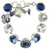 Mariana Night Sky Rhodium Plated Guardian Angel Bracelet