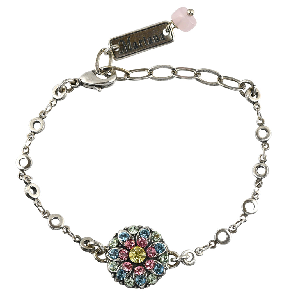 Mariana Jewelry Spring Flowers Bracelet, Silver Plated with Swarovski Crystal, Nature Collection MAR-B-4212_2 2141 SP