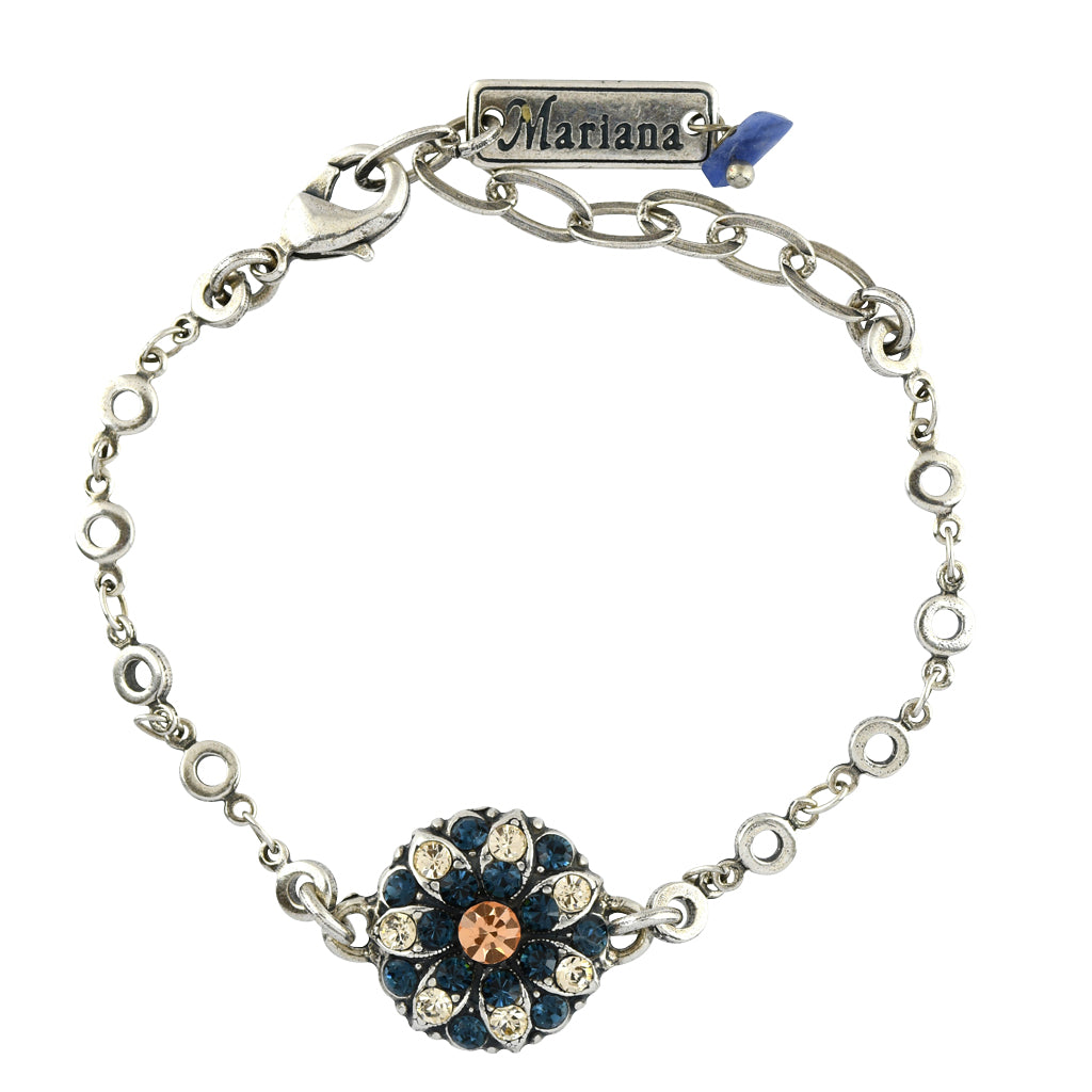 Mariana Jewelry Spring Flowers Bracelet, Silver Plated with Swarovski Crystal, Nature Collection MAR-B-4212_2 2142 SP