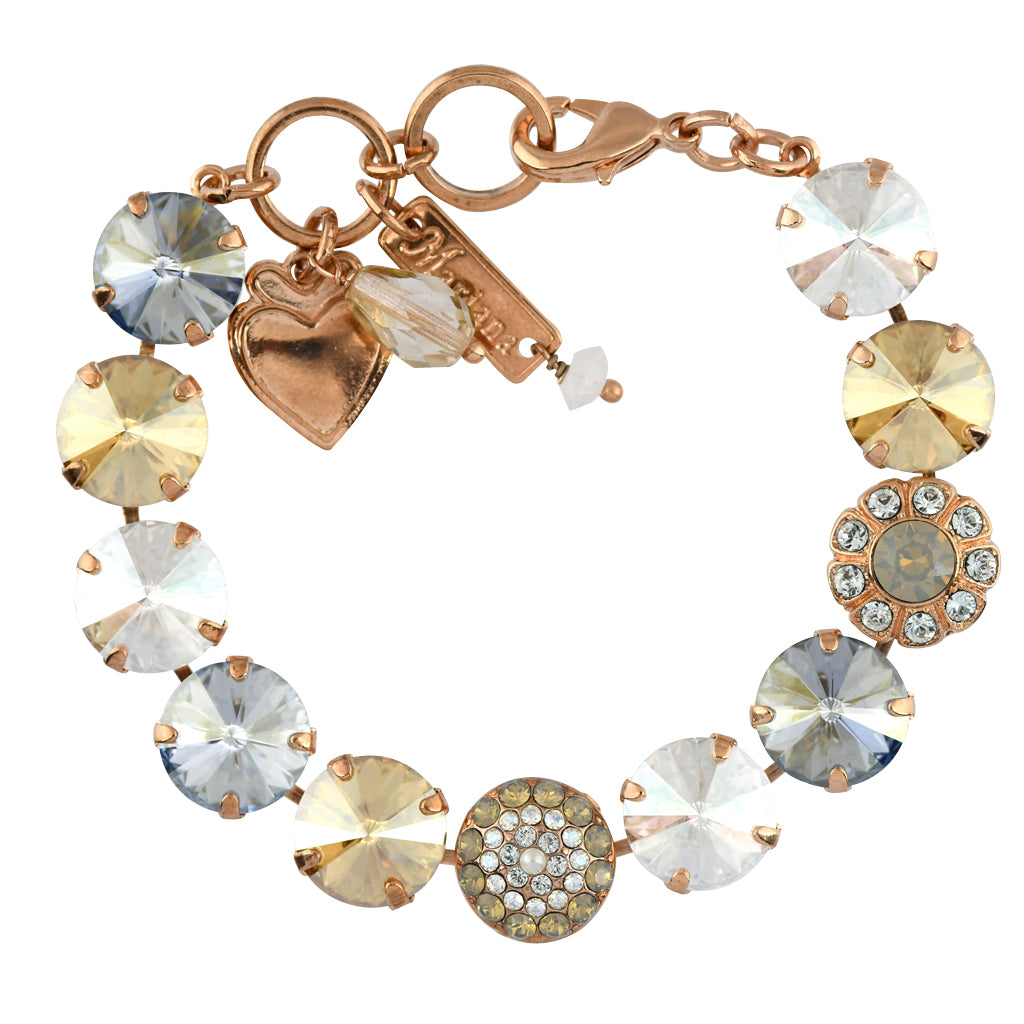 Mariana Jewelry Seashell Bracelet, Rose Gold Plated with Swarovski Crystal, Nature Collection MAR-B-4247_2 39361 RG