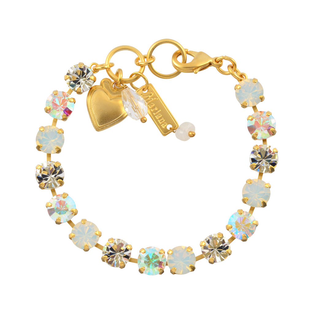 Mariana Jewelry On A Clear Day Tennis Bracelet, Gold Plated with Clear Swarovksi Crystal, 8 4252 001