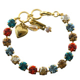 Mariana Jewelry Tinsel Gold Plated Crystal Tennis Bracelet, 8