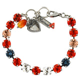 Mariana Jewelry Gelato Bracelet, Silver Plated with Swarovski Crystal, Nature Collection MAR-B-4252 117 SP