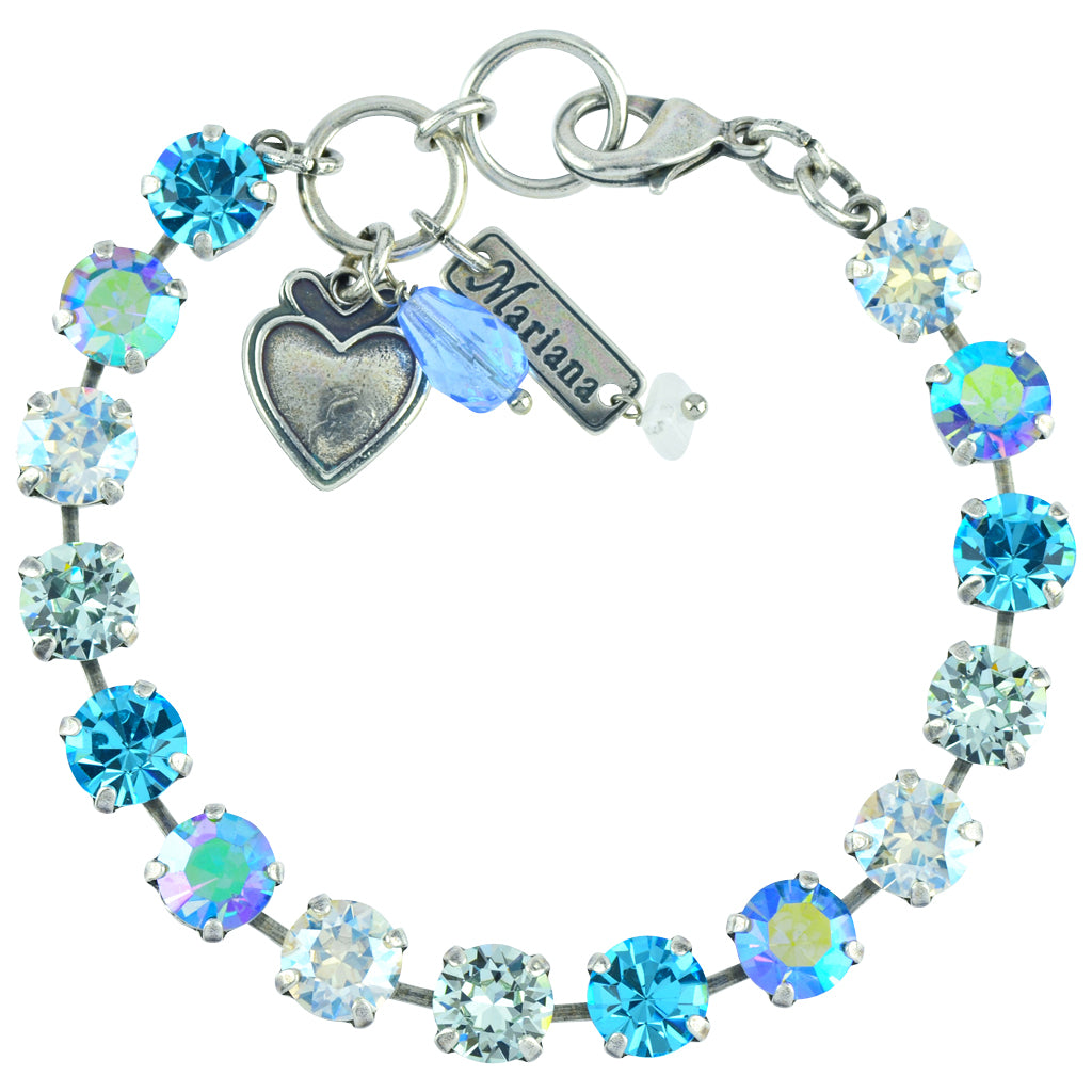 "Mariana Jewelry ""Italian Ice"" Tennis Bracelet, Silver Plated with Crystal, 8"" 4252 141"