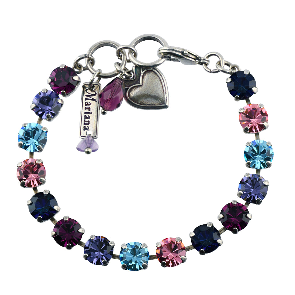 "Mariana Jewelry ""Cotton Candy"" Tennis Bracelet, Silver Plated with Crystal, 8"" 4252 144"