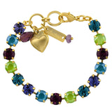 Mariana Jewelry Peacock Bracelet, Gold Plated with Swarovski Crystal, Nature Collection MAR-B-4252 2139 YG