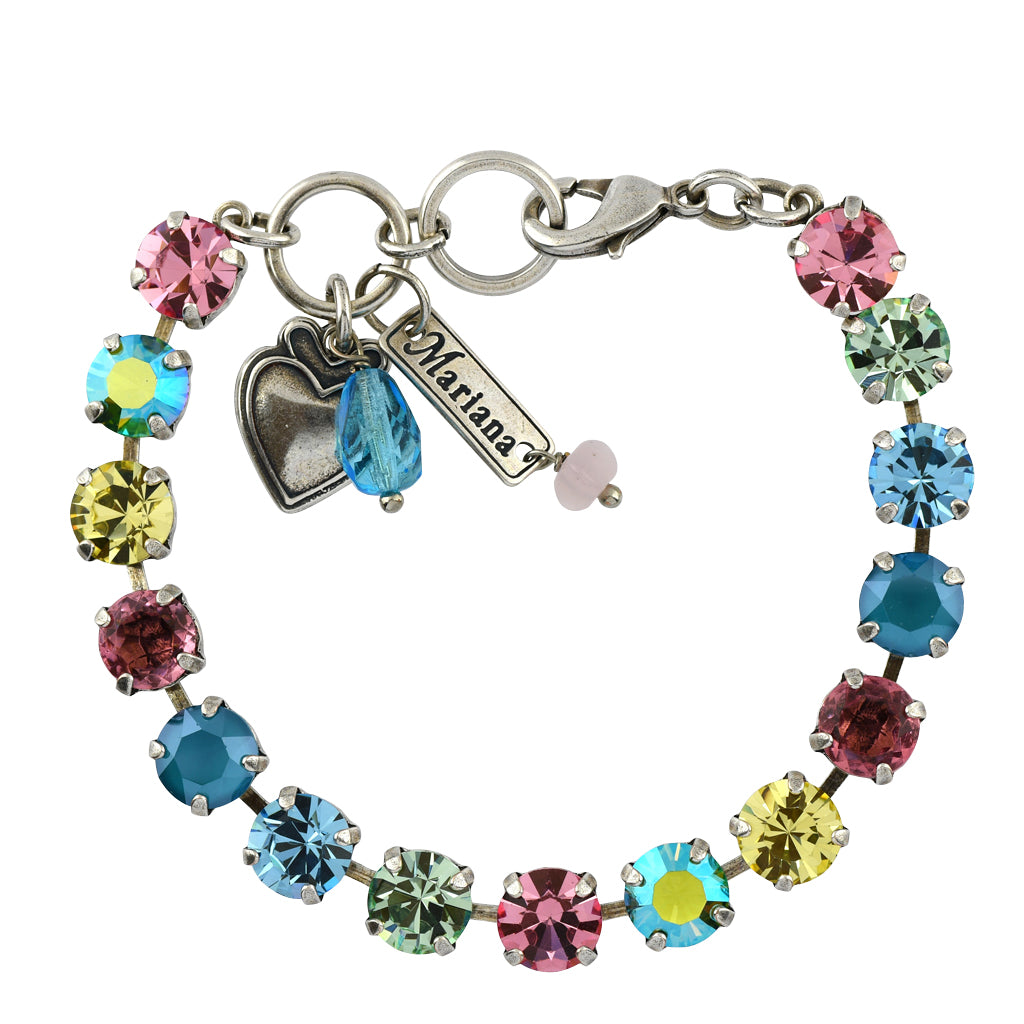 Mariana Jewelry Spring Flowers Bracelet, Silver Plated with Swarovski Crystal, Nature Collection MAR-B-4252 2141 SP