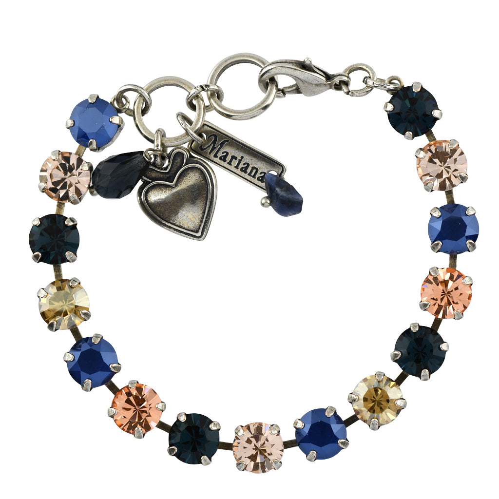 Mariana Jewelry Ocean Bracelet, Silver Plated with Swarovski Crystal, Nature Collection MAR-B-4252 2142 SP