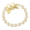 Mariana Sand Opal Tennis Bracelet, Gold Plated with Crystal, 8