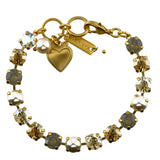Mariana Jewelry Champagne and Caviar Bracelet, Gold Plated with Swarovski Crystal, Nature Collection MAR-B-4252 3911 YG