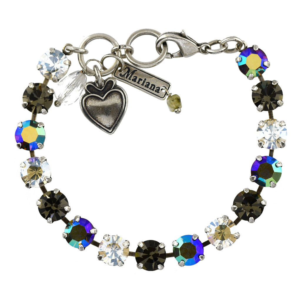 Mariana Jewelry Ice Bracelet, Silver Plated with Swarovski Crystal, Nature Collection MAR-B-4252 512 SP