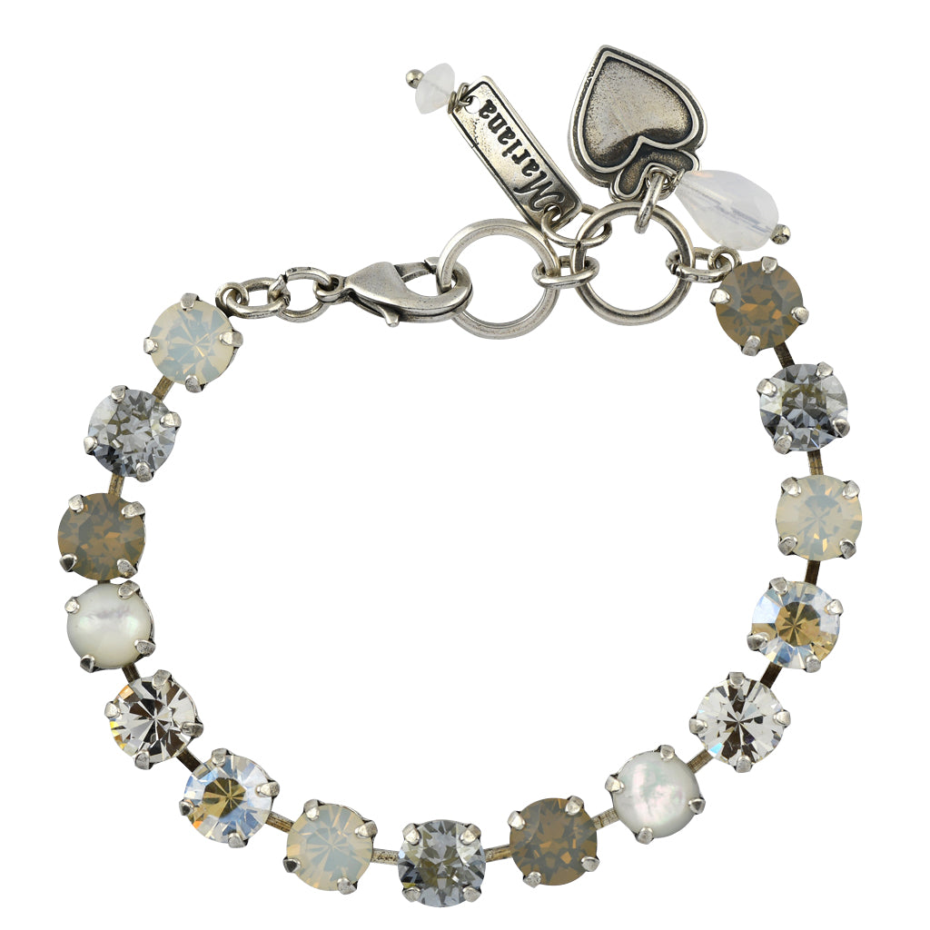Mariana Jewelry Silk Bracelet, Silver Plated with Swarovski Crystal, Nature Collection MAR-B-4252 M1049 SP