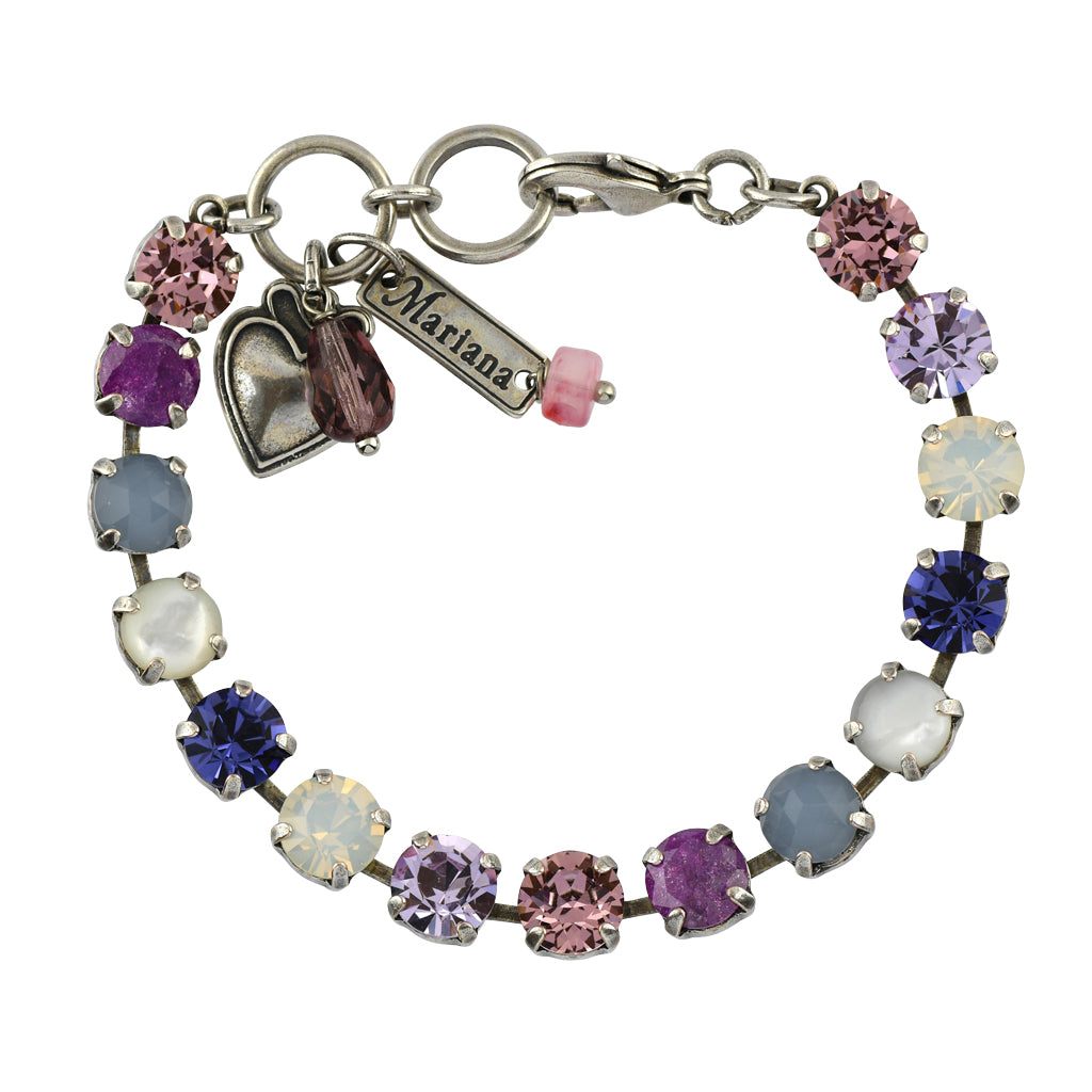 Mariana Jewelry Purple Rain Bracelet, Silver Plated with Swarovski Crystal, Nature Collection MAR-B-4252 M1062 SP