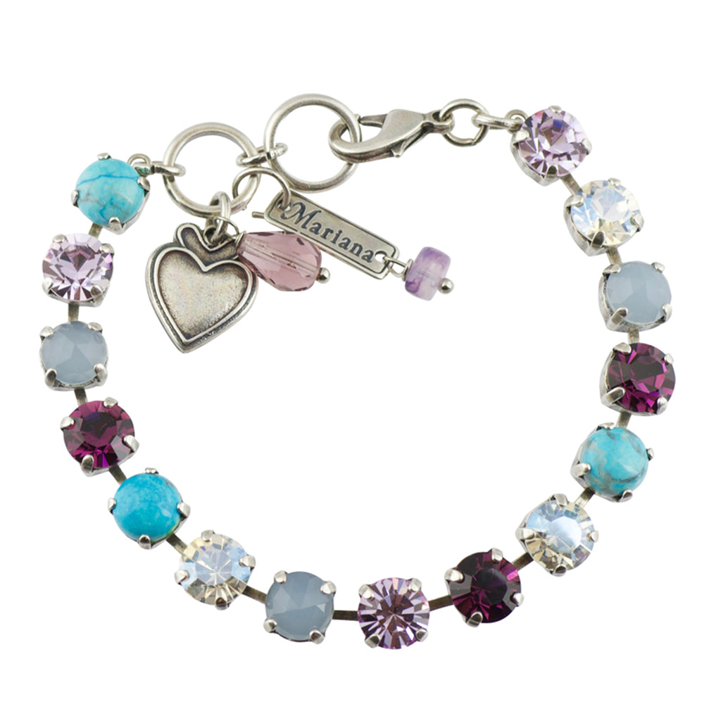 Mariana Silver Plated Crystal Tennis Bracelet, 8""