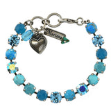 Mariana Jewelry Bliss Bracelet, Silver Plated with Swarovski Crystal, Nature Collection MAR-B-4252 M2672 SP