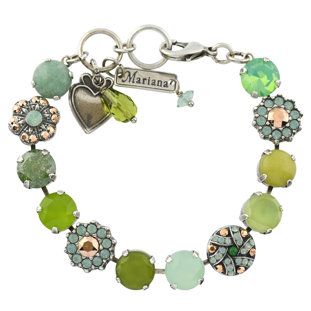 "Mariana Jewelry Evergreen Silver Plated Tennis Bracelet, 8"" 4259"