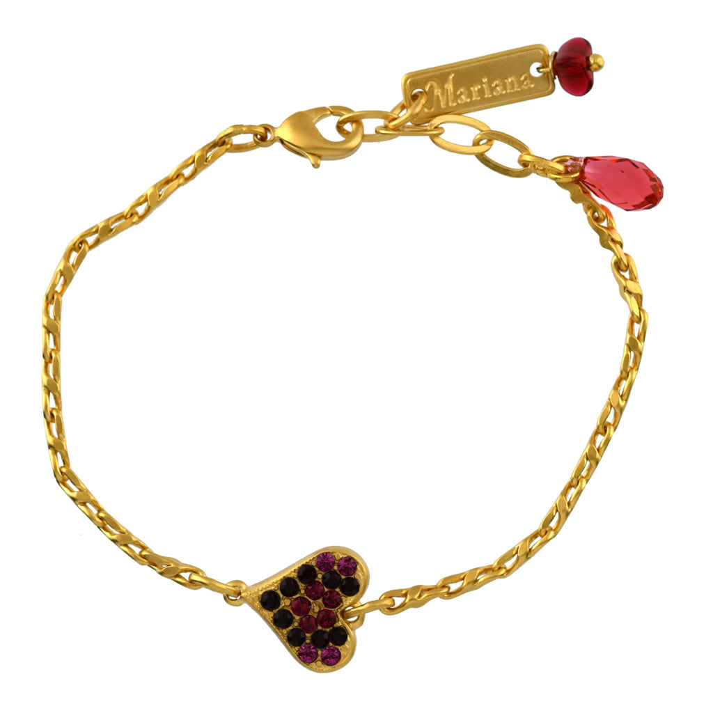 Mariana Jewelry Firefly Bracelet, Gold Plated with Swarovski Crystal, Nature Collection MAR-B-4322_2 2140 YG