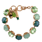 Mariana Jewelry Fern Bracelet, Rose Gold Plated with Swarovski Crystal, Nature Collection MAR-B-4326_2 2143 RG