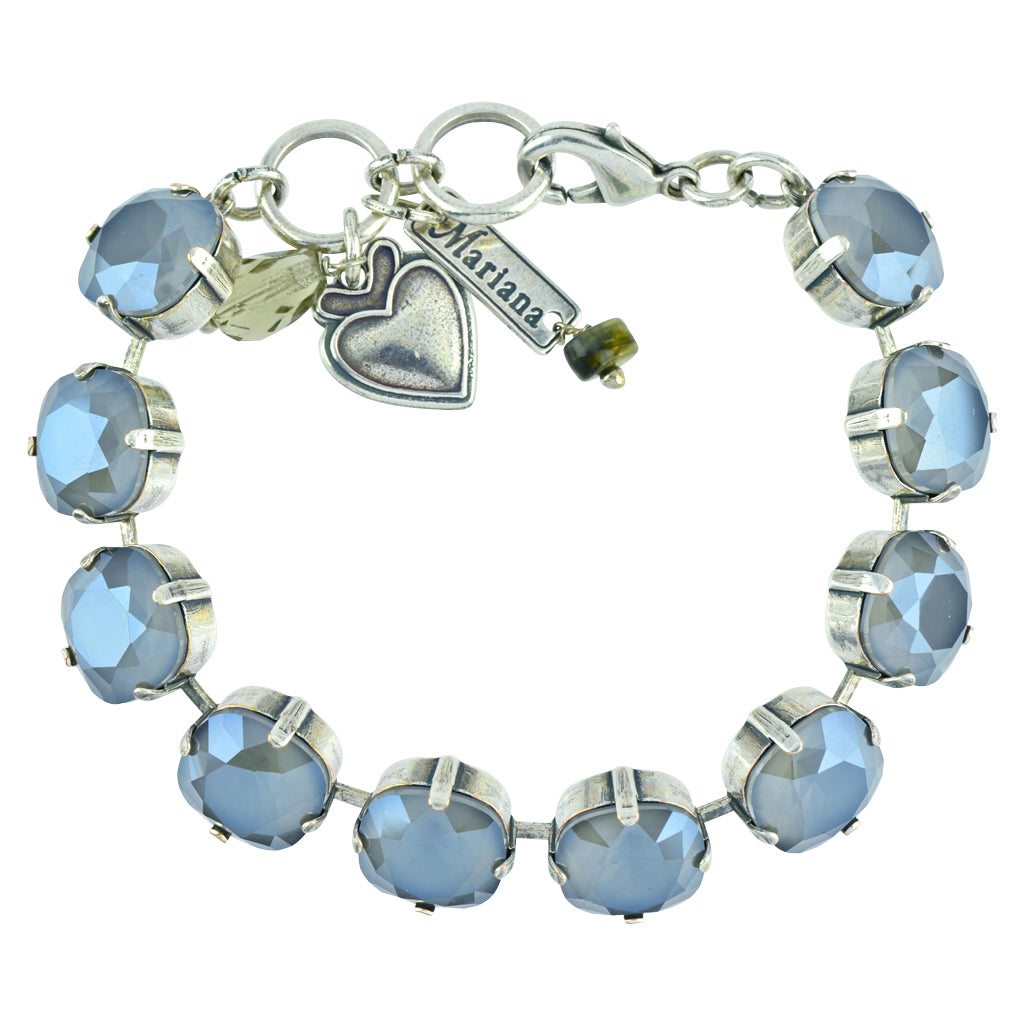 "Mariana Jewelry Peppermint Rounded Square Tennis Bracelet, Silver Plated, 8"" 4326/2 254254"