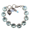 Mariana Jewelry Rounded Square Tennis Bracelet, Silver Plated with Azore Blue Crystal, 8