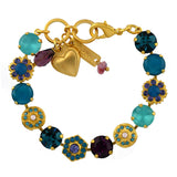 Mariana Jewelry Peacock Bracelet, Gold Plated with Swarovski Crystal, Nature Collection MAR-B-4411 2139 YG