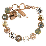 Mariana Jewelry Seashell Bracelet, Rose Gold Plated with Swarovski Crystal, Nature Collection MAR-B-4411 39361 RG