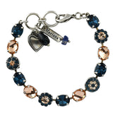 Mariana Jewelry Ocean Bracelet, Silver Plated with Swarovski Crystal, Nature Collection MAR-B-4416 2142 SP