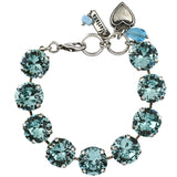 Mariana Jewelry Aqua Bracelet, Silver Plated with Swarovski Crystal, Nature Collection MAR-B-4438 202202 SP