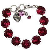 Mariana Jewelry Rose Bracelet, Silver Plated with Swarovski Crystal, Nature Collection MAR-B-4438 209209 SP