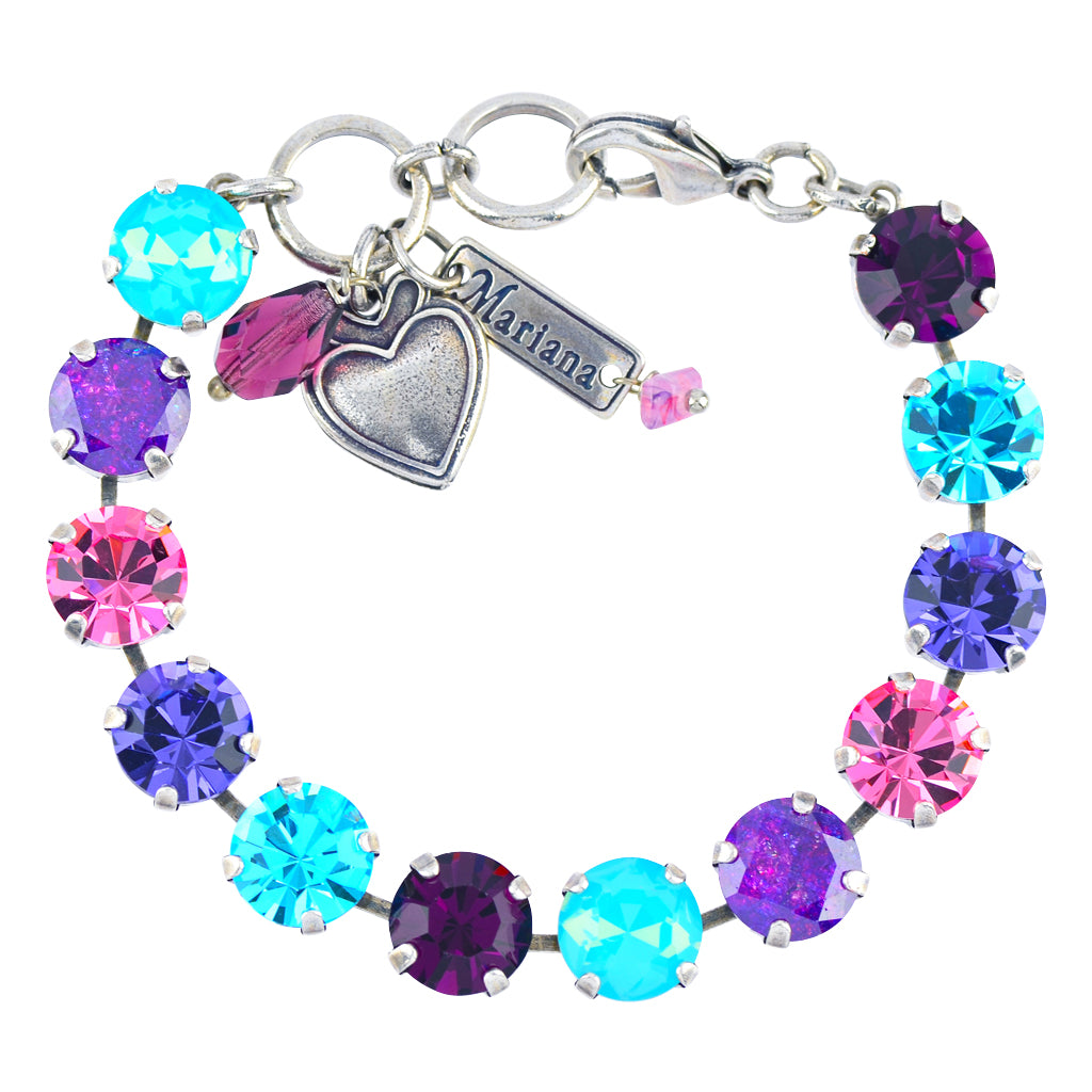 "Mariana Jewelry ""Cotton Candy"" Large Tennis Bracelet, Silver Plated, 8"" 4445/1 144"
