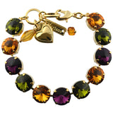 Mariana Jewelry Holiday Lights Large Tennis Bracelet, Gold Plated with Silk Burst Crystal, 8