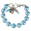 Mariana Jewelry Aqua Bracelet, Silver Plated with Swarovski Crystal, Nature Collection MAR-B-4474R 202202 SP