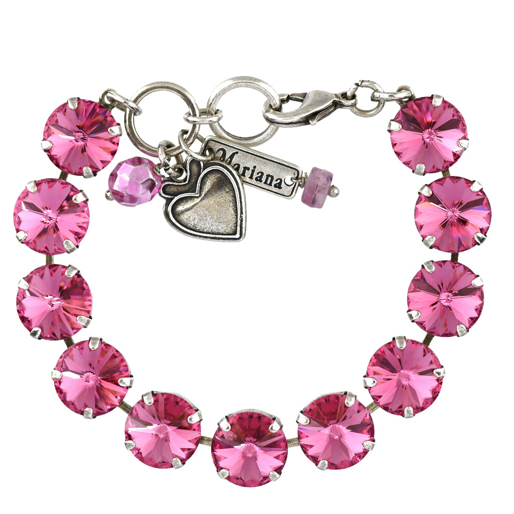 Mariana Jewelry Rose Bracelet, Silver Plated with Swarovski Crystal, Nature Collection MAR-B-4474R 209209 SP