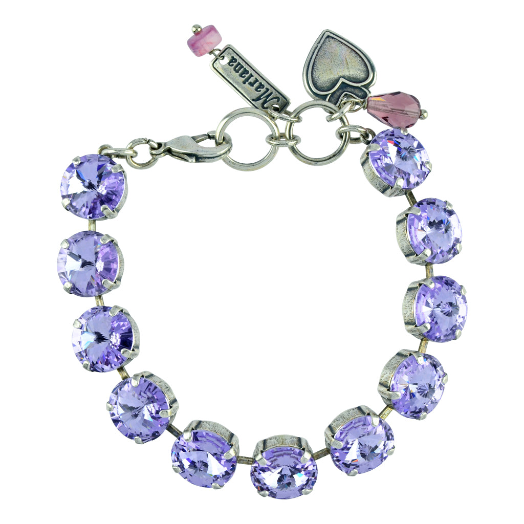 "Mariana Jewelry ""Macaroon"" Tennis Bracelet, Silver Plated with Burst Crystal, 8"" 4474R 371371"