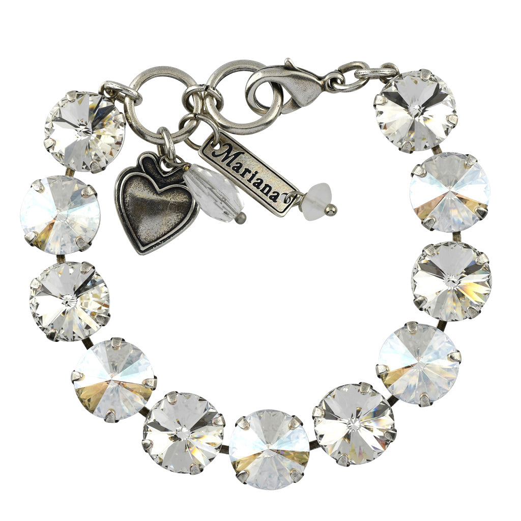 Mariana Jewelry Moonlight Bracelet, Silver Plated with Swarovski Crystal, Nature Collection MAR-B-4474R MOL001 SP