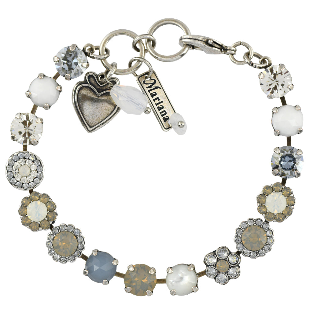 Mariana Jewelry Silk Bracelet, Silver Plated with Swarovski Crystal, Nature Collection MAR-B-4479 1049 SP