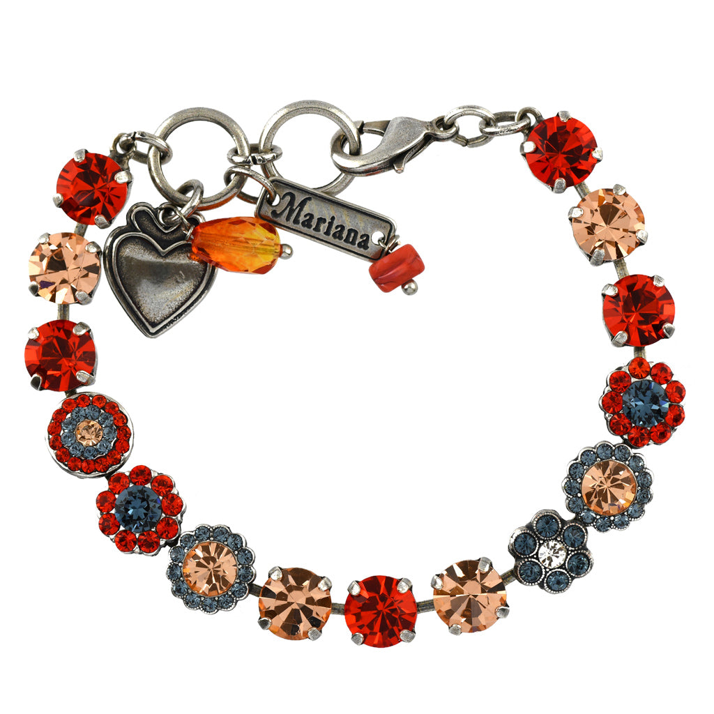 Mariana Jewelry Gelato Bracelet, Silver Plated with Swarovski Crystal, Nature Collection MAR-B-4479 117 SP