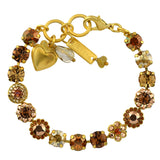 Mariana Jewelry Caramel Bracelet, Gold Plated with Swarovski Crystal, Nature Collection MAR-B-4479 137 YG