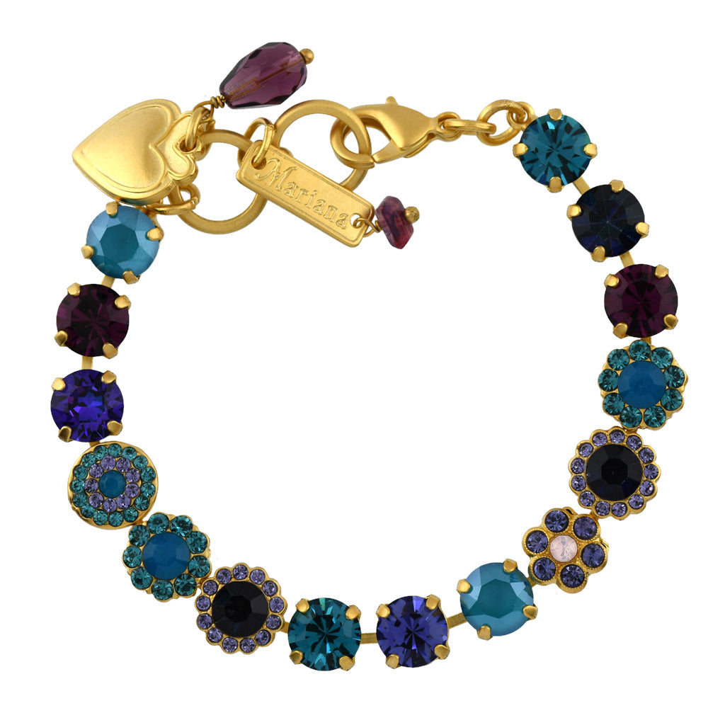 Mariana Jewelry Peacock Bracelet, Gold Plated with Swarovski Crystal, Nature Collection MAR-B-4479 2139 YG
