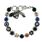 Mariana Jewelry Ocean Bracelet, Silver Plated with Swarovski Crystal, Nature Collection MAR-B-4479 2142 SP
