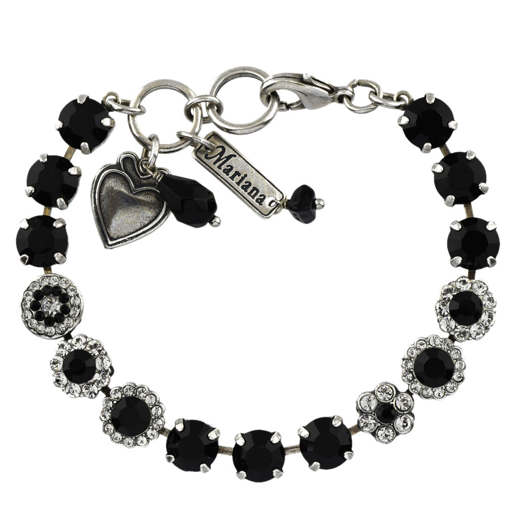 Mariana Jewelry Checkmate Bracelet, Silver Plated with Swarovski Crystal, Nature Collection MAR-B-4479 280-1 SP