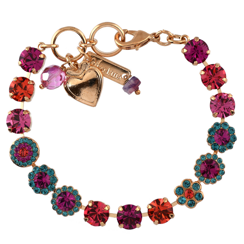 Mariana Jewelry Sorbet Bracelet, Rose Gold Plated with Swarovski Crystal, Nature Collection MAR-B-4479 292 RG