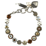 Mariana Jewelry Champagne and Caviar Bracelet, Silver Plated with Swarovski Crystal, Nature Collection MAR-B-4479 3911 SP
