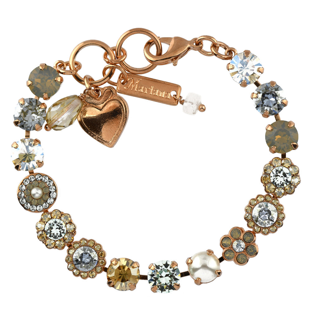 Mariana Jewelry Seashell Bracelet, Rose Gold Plated with Swarovski Crystal, Nature Collection MAR-B-4479 39361 RG
