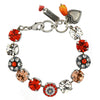 Mariana Jewelry Gelato Bracelet, Silver Plated with Swarovski Crystal, Nature Collection MAR-B-4501_1 117 SP