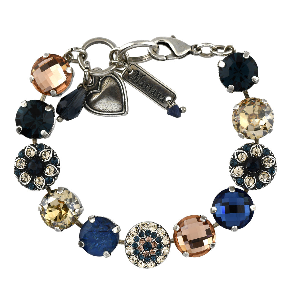 Mariana Jewelry Ocean Bracelet, Silver Plated with Swarovski Crystal, Nature Collection MAR-B-4501_1 2142 SP